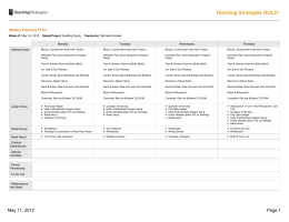 Teaching Strategies GOLD: Weekly Planning Form