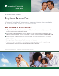 Registered Pension Plans