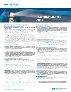 TAx HIGHLIGHTS 2014
