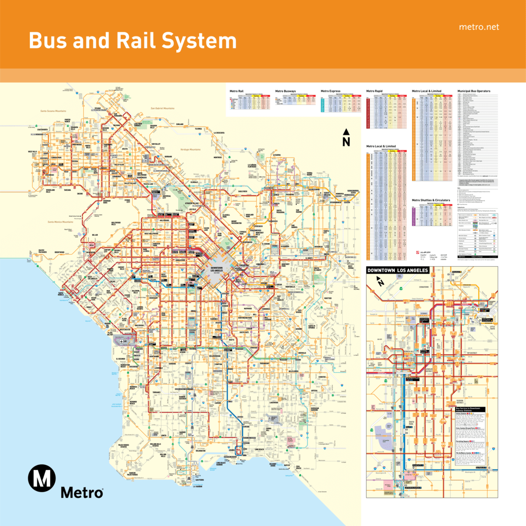 December 13 2015 Metro Bus and Rail System Map
