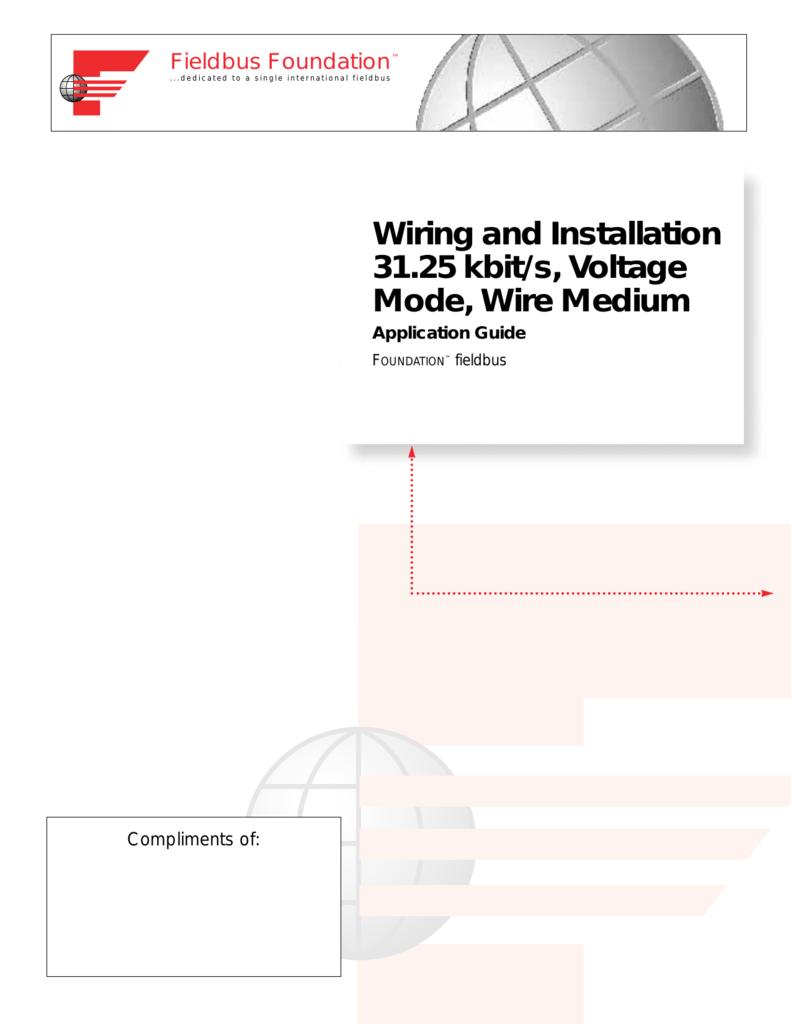 wiring installation guide fieldbus tutorial part 4 installation