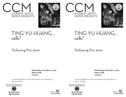 TING YU HUANG , cello* TING Y cello*