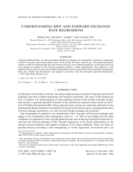 understanding spot and forward exchange rate regressions
