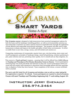 Alabama Smart Yards - Decatur Parks & Recreation