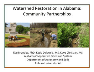 Watershed Restoration in Alabama: Community Partnerships