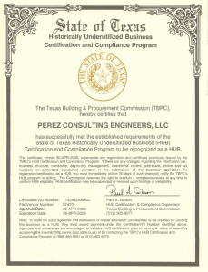 HUB certified - Perez Consulting Engineers
