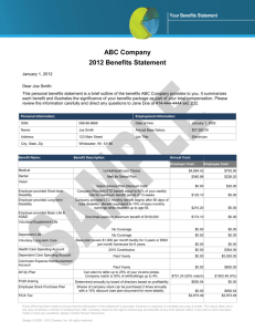 ABC Company 2012 Benefits Statement