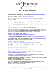 Reef Fish Guide Bibliography - Reef Protection International