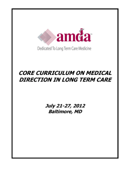 Part I Handouts - American Medical Directors Association