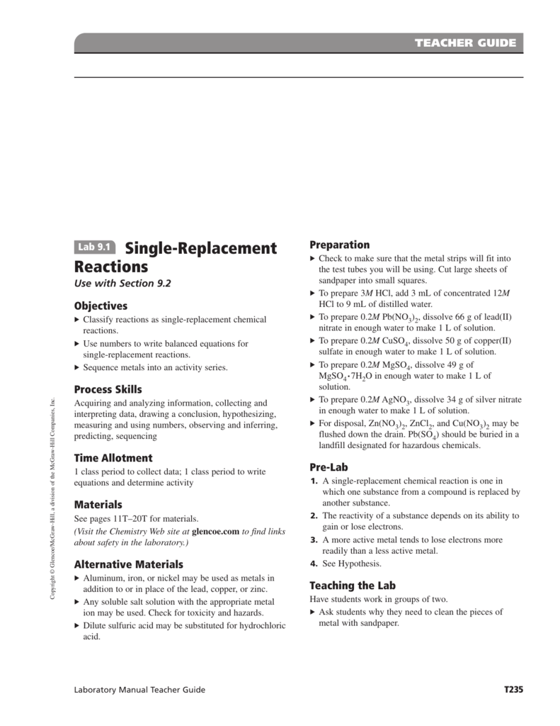 Laboratory Manual Teacher Edition