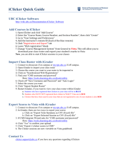 iClicker Quick Guide UBC iClicker Software