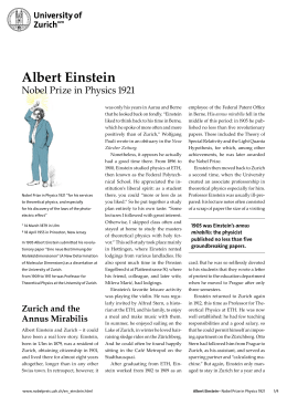 Read more about Albert Einstein's life and work