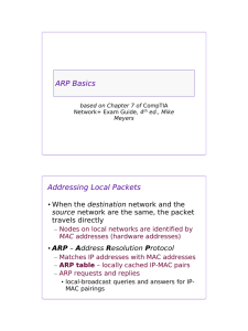 Lab 9 8 1: Address Resolution Protocol (ARP) (Instructor