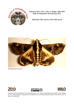 February 2011 - Journal of Threatened Taxa