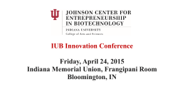 Conference Presenters - The Johnson Center for Entrepreneurship