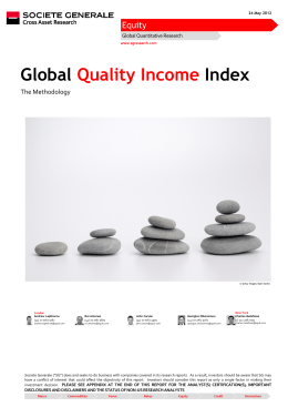 Global Quality Income Index