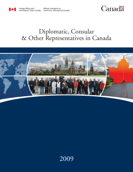 Diplomatic, Consular & Other Representatives in Canada