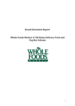 the Whole Foods Market Brand Extension Report here