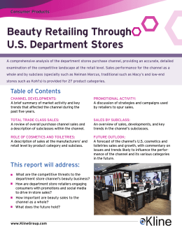 Beauty Retailing Through U.S. Department Stores