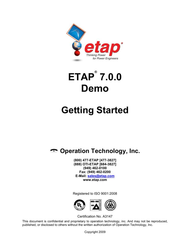 ETAP 7 0 0 Demo
