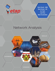 ETAP Network Analysis Overview