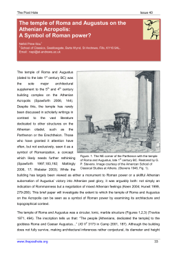 The temple of Roma and Augustus on the Athenian Acropolis: A