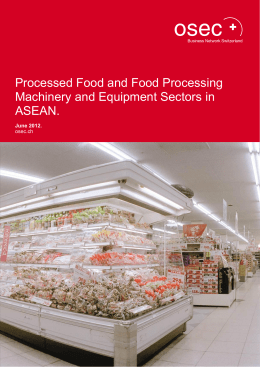 Processed Food and Food Processing Machinery and Equipment