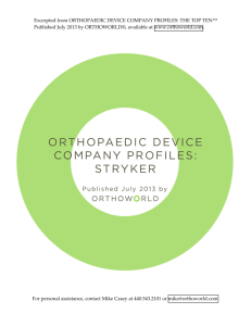 Orthopaedic Device Company Profiles - Stryker