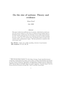 On the size of nations: Theory and evidence