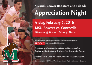 Appreciation Night - Minot State University