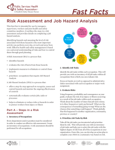 Risk Assessment and Job Hazard Analysis