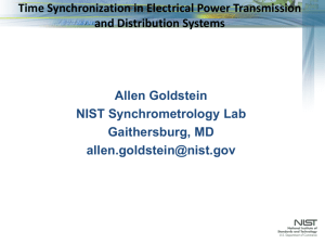 Time Synchronization in Electrical Power Transmission and