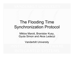 2004 The flooding time synchronization protocol
