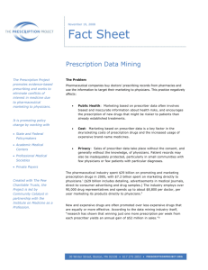 Prescription Data Mining Fact Sheet