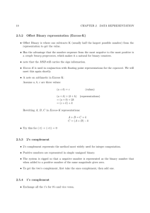2.5.2 Offset Binary representation (Excess