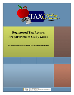 Registered Tax Return Preparer Exam Study Guide