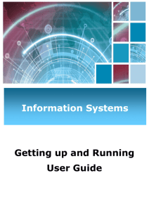 Getting up and running user guide