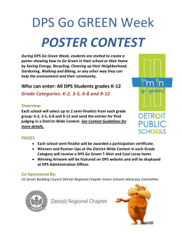 DPS Go GREEN Week POSTER CONTEST