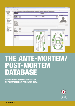 ante-mortem:post-mortem database - International Committee of the