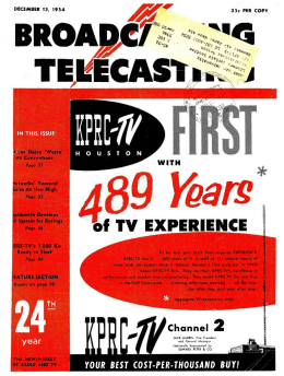 of TV EXPERIENCE - American Radio History