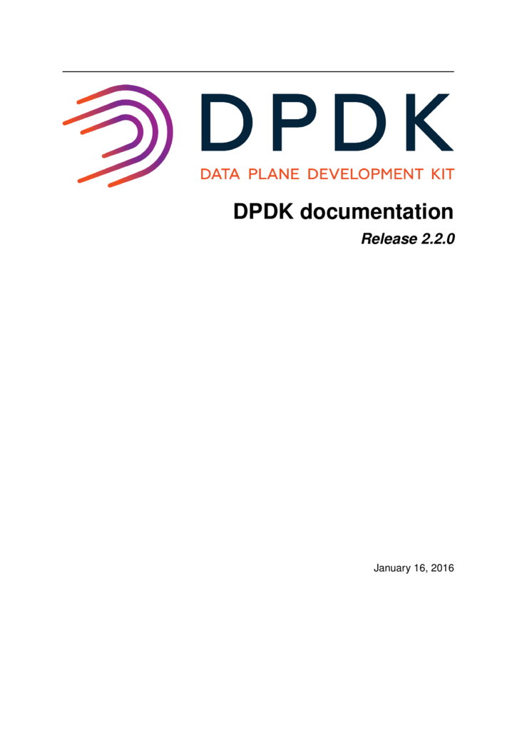 DPDK documentation