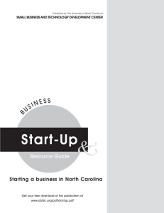 The Business Plan Section of SBTDC's Startup Guide