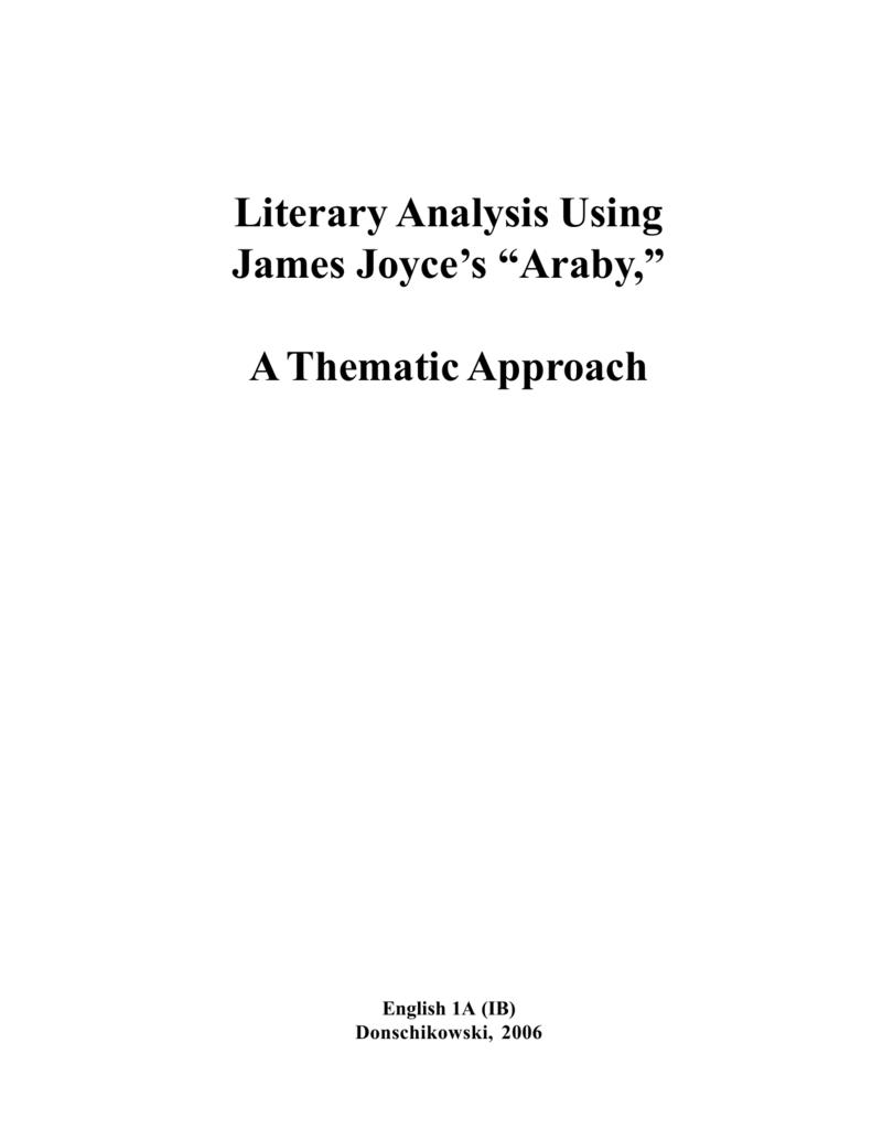araby setting analysis