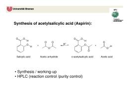 the preparation of aspirin