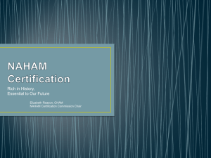 NAHAM Certification