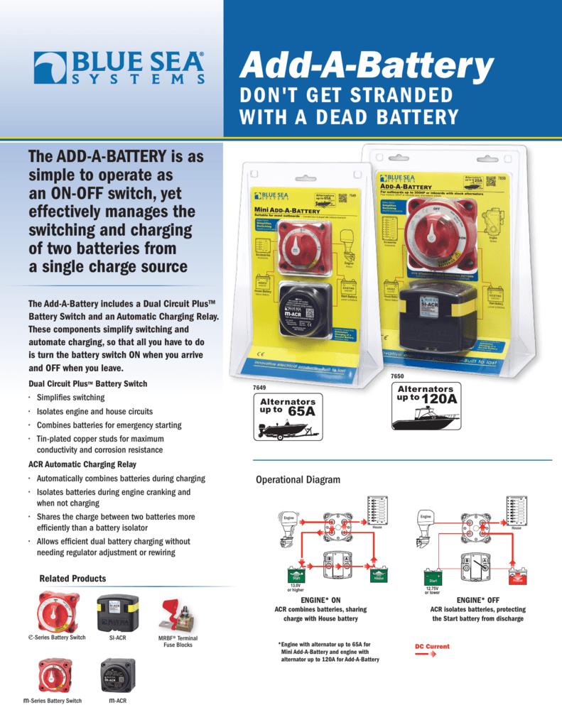Add A Battery Blue Sea Systems