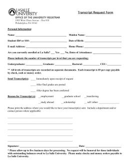 4506-T Request for Transcript of Tax Return