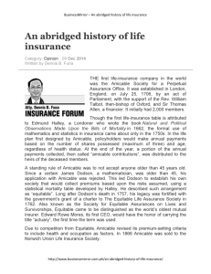 An abridged history of life insurance