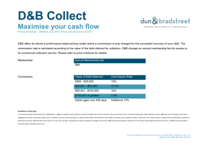 D&B Collect Pricing Schedule.