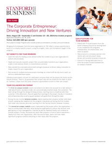 The Corporate Entrepreneur: Driving Innovation and New Ventures